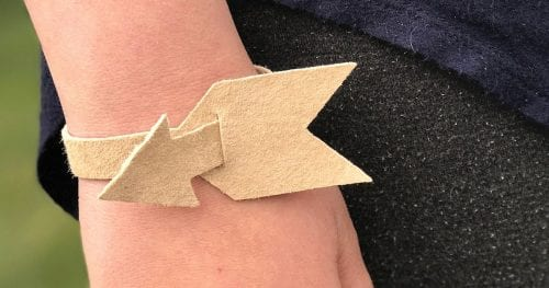 How to Make a DIY Arrow Leather Bracelet with the Cricut Explore Air 2 featured by top US craft blog, The Crafty Blog Stalker