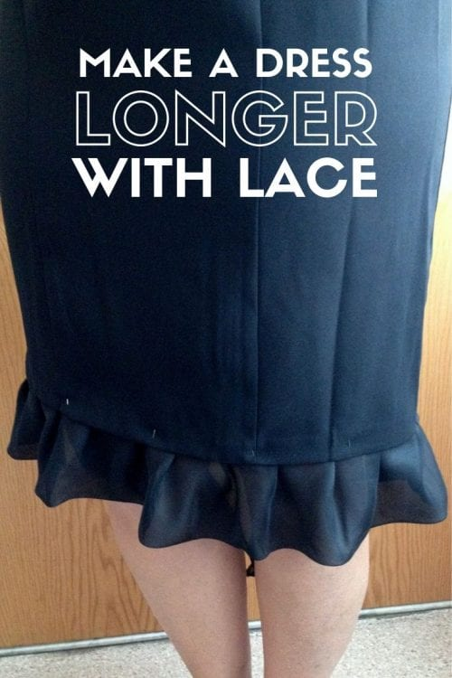 How to Make a Dress Longer with Lace, a tutorial featured by top US craft blog, The Crafty Blog Stalker