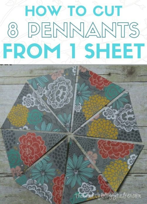 21 Easy Crafts for Adults to Make with 5 Supplies or Less, featured by top US craft blog, The Crafty Blog Stalker: 8 pennants from 1 sheet