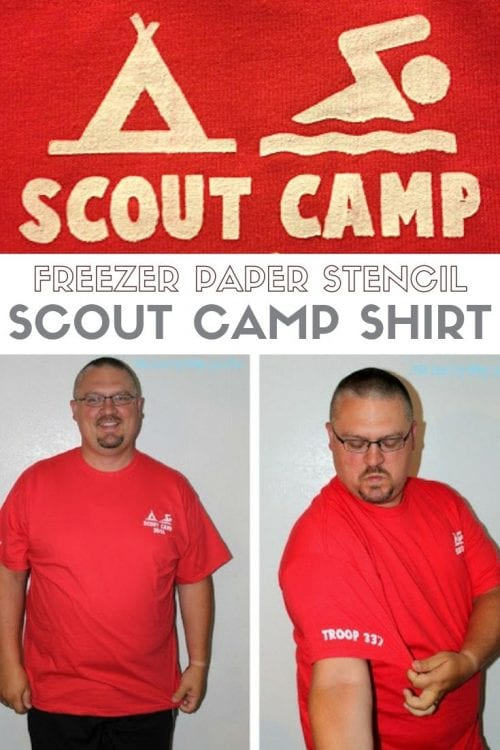 How to Make a Freezer Paper Stencil Scout Camp Shirt