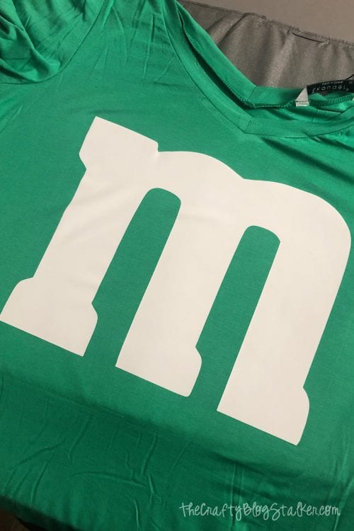 How to Make a Green M&M Halloween Costume featured by top US craft blog, The Crafty Blog Stalker