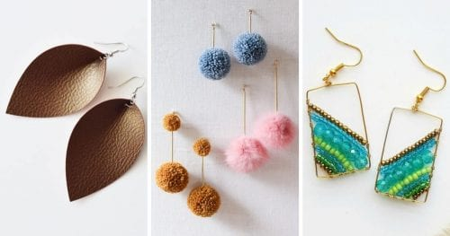 20 Cute Handmade Earrings Ideas featured by top US craft blog, The Crafty Blog Stalker.