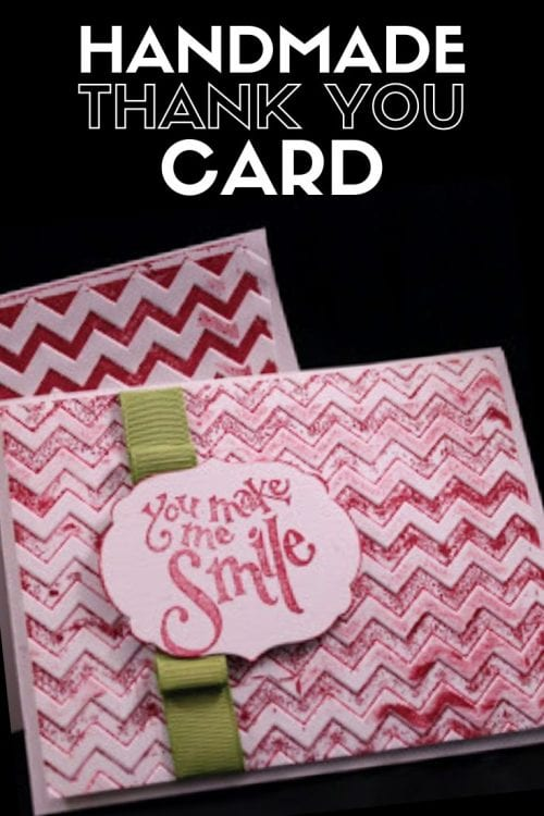 How to Make a Thank You Card Step by Step, a tutorial featured by top US craft blog, The Crafty Blog Stalker.