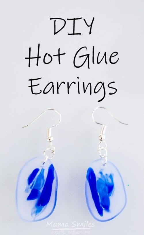 20 Cute Handmade Earrings Ideas featured by top US craft blog, The Crafty Blog Stalker: image of hot glue earrings