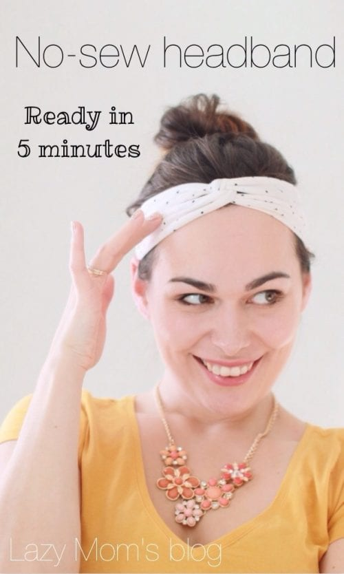 20 No Sew Scrap Fabric Projects featured by top US craft blog, The Crafty Blog Stalker: image of no sew headband