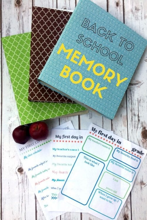How to Make a Back to School Memory Book With Free Printable