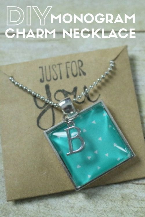 20 Unique Handmade Necklaces featured by top US craft blog, The Crafty Blog Stalker: Monogram Charm Necklace