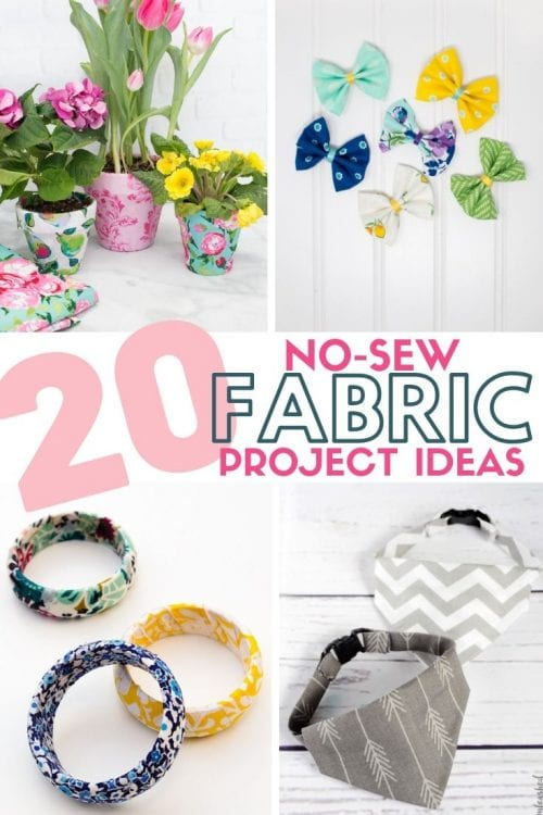20 No Sew Scrap Fabric Projects featured by top US craft blog, The Crafty Blog Stalker