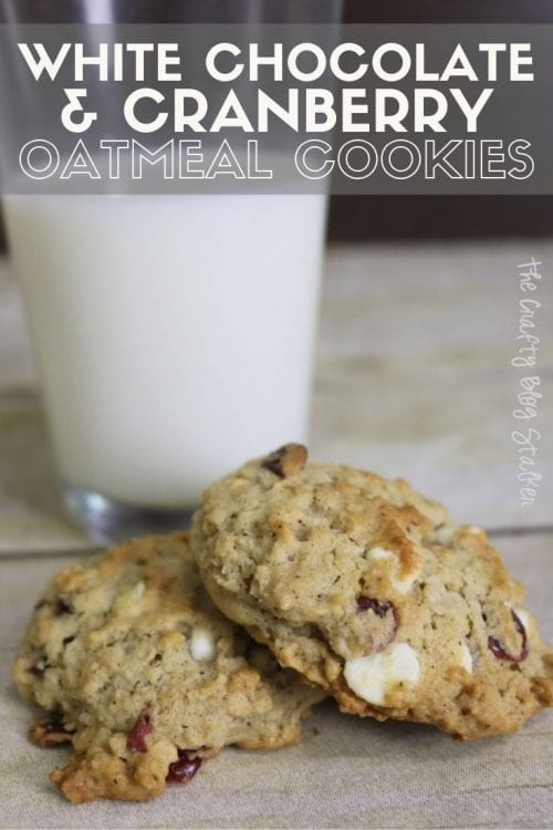 How to Make White Chocolate & Cranberry Oatmeal Cookie Recipe, a recipe tutorial featured by top US craft blog, The Crafty Blog Stalker.