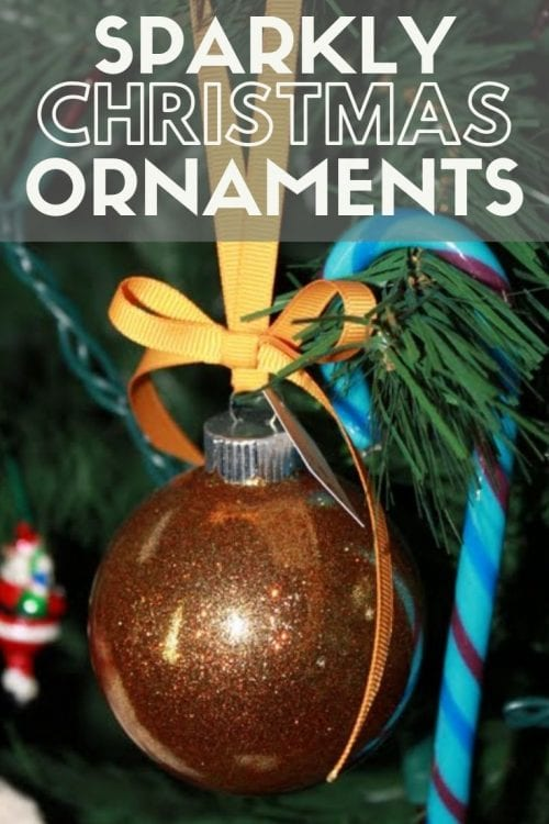 How to Make Sparkly Christmas Ornaments with Glitter, a tutorial featured by top US craft blog, The Crafty Blog Stalker.