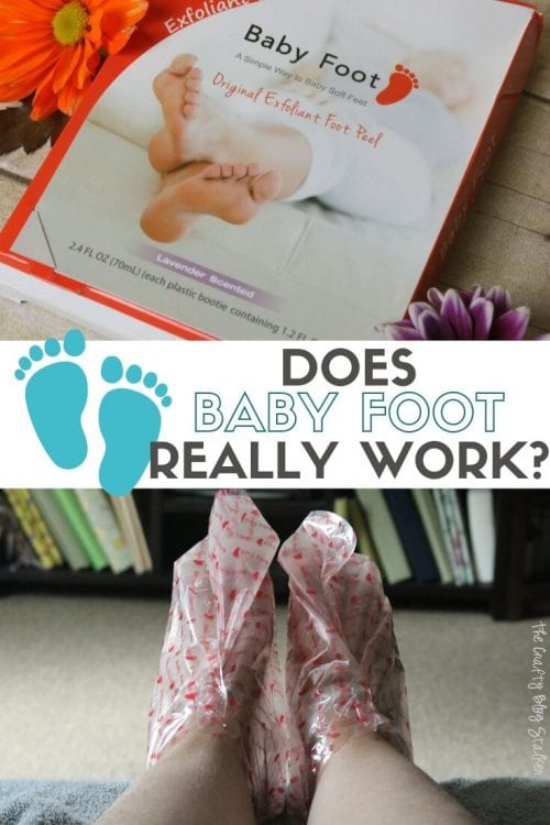 Does Baby Foot Really Work? A tutorial and review featured by top US craft blog, The Crafty Blog Stalker.