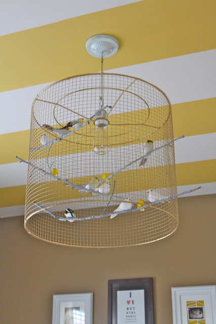 Top 20 DIY Lampshade Ideas to Lighten Up a Room featured by top US craft blog, The Crafty Blog Stalker: image of bird lamp shade