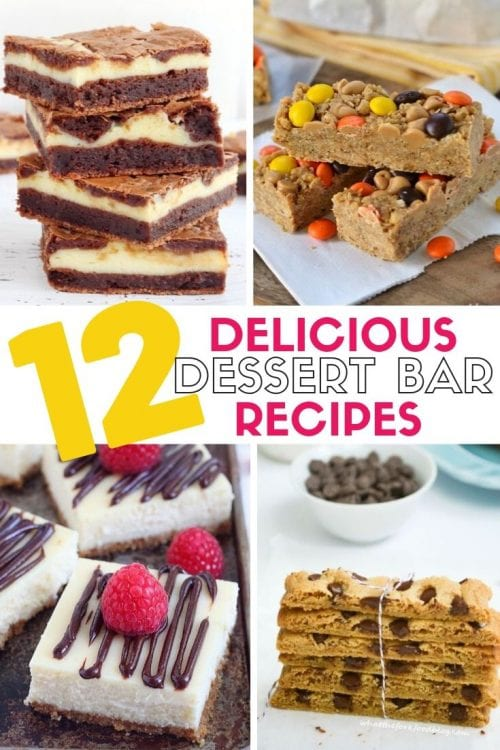 12 Delicious Dessert Bar Recipes featured by top US craft blog, The Crafty Blog Stalker.