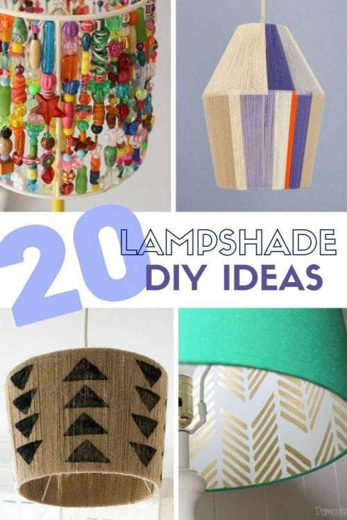 Top 20 DIY Lampshade Ideas to Lighten Up a Room featured by top US craft blog, The Crafty Blog Stalker
