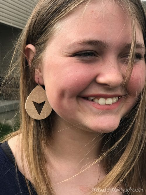 DIY leather jewelry tutorial with Cricut, featured by top US craft blog, The Crafty Blog Stalker