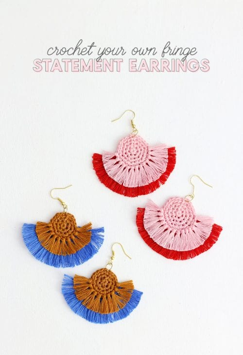 20 Cute Handmade Earrings Ideas featured by top US craft blog, The Crafty Blog Stalker: image of faux leather magnolia earrings