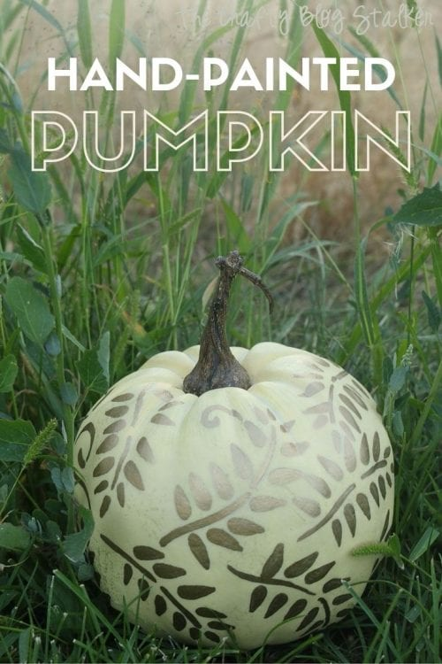 How to Make a Hand-Painted Pumpkin, a tutorial featured by top US craft blog, The Crafty Blog Stalker.