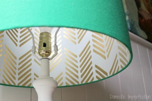 Top 20 DIY Lampshade Ideas to Lighten Up a Room featured by top US craft blog, The Crafty Blog Stalker: image of hidden stencil lampshade