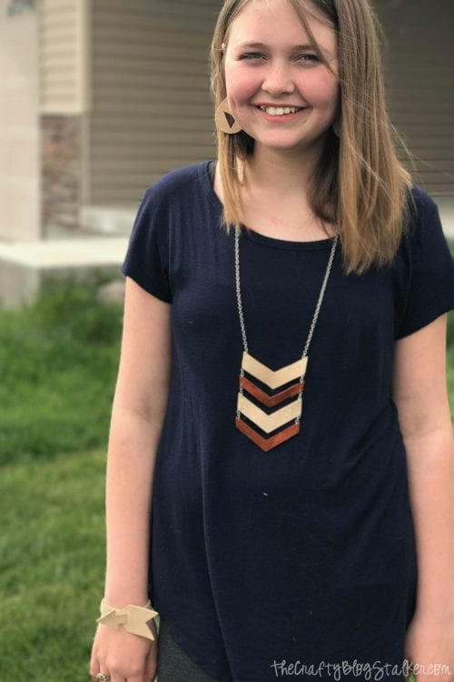 Make your Own DIY Leather Jewelry Set with the Cricut Explore Air 2, a tutorial featured by top US craft blog, The Crafty Blog Stalker