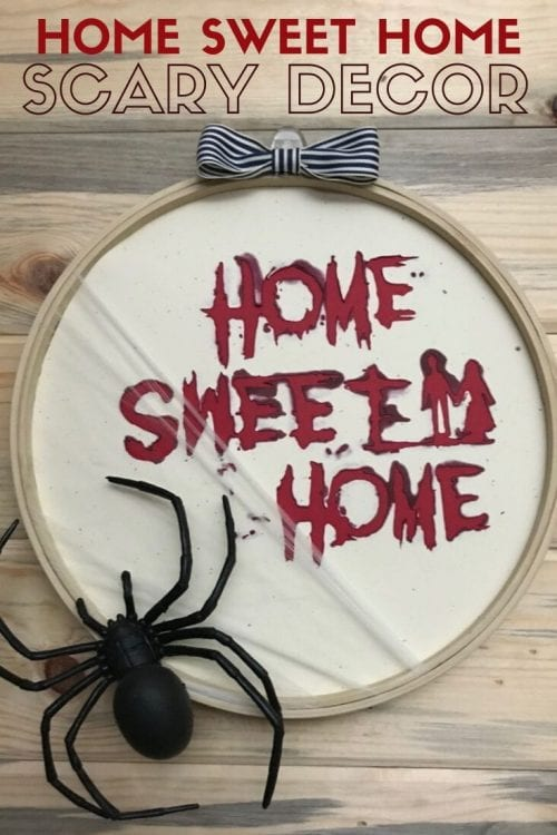 How to Make a Scary Home Sweet Home Halloween Decoration, a tutorial featured by top US craft blog, The Crafty Blog Stalker