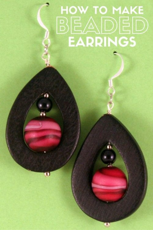 How to Make Teardrop Bead Earrings, a tutorial featured by top US craft blog, The Crafty Blog Stalker