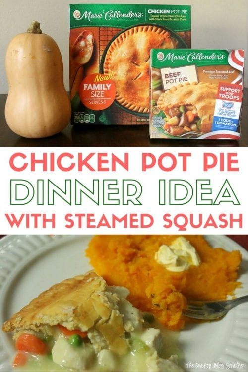 How to Make Chicken Pot Pie and Steamed Butternut Squash for Dinner, a recipe tutorial featured by top US craft blog, The Crafty Blog Stalker.