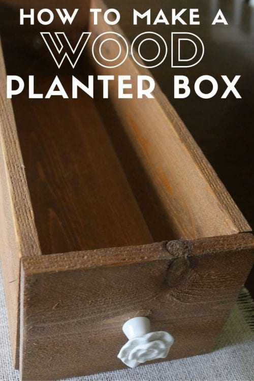 How to Make a Wood Planter Box Centerpiece, a tutorial featured by top US craft blog, The Crafty Blog Stalker.