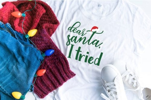 20 Handmade DIY Christmas Shirts for Adults featured by top US craft blog, The Crafty Blog Stalker: Dear Santa, I Tried