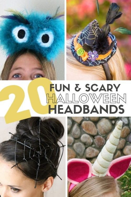 20 Fun and Scary Halloween Headband Tutorials featured by top US craft blog, The Crafty Blog Stalker.