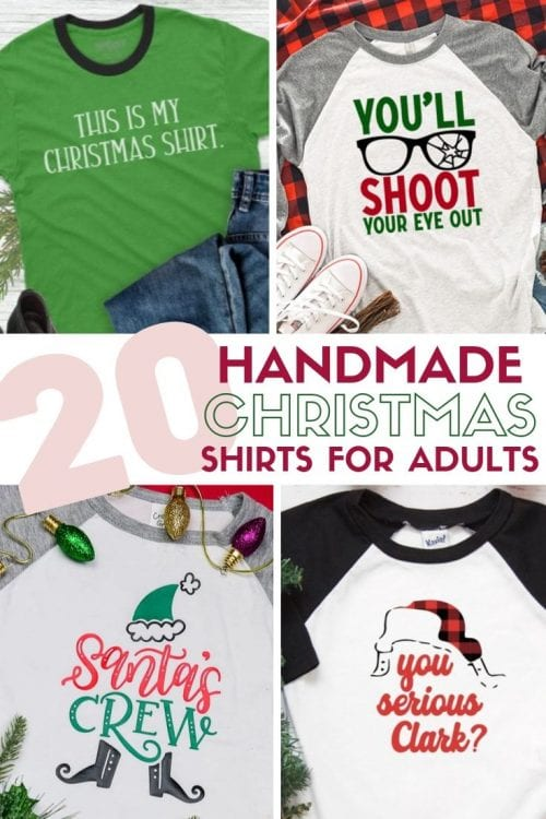 20 Handmade DIY Christmas Shirts for Adults featured by top US craft blog, The Crafty Blog Stalker.