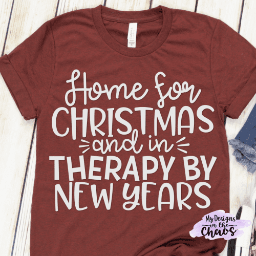 20 Handmade DIY Christmas Shirts for Adults featured by top US craft blog, The Crafty Blog Stalker: Home for Christmas