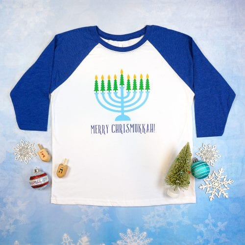 20 Handmade DIY Christmas Shirts for Adults featured by top US craft blog, The Crafty Blog Stalker: Merry Chrismukkah
