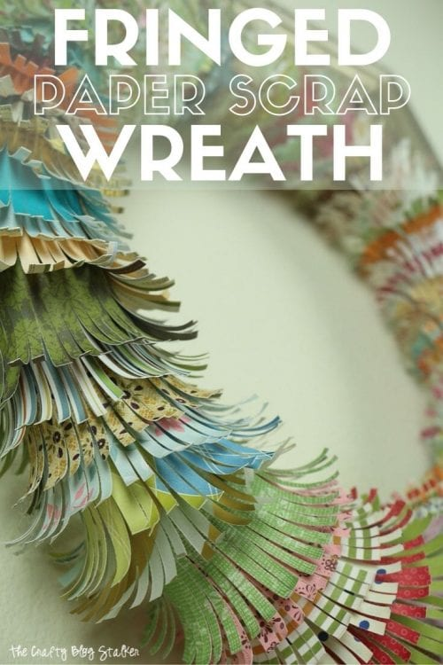 Fringed Paper Scrap Wreath