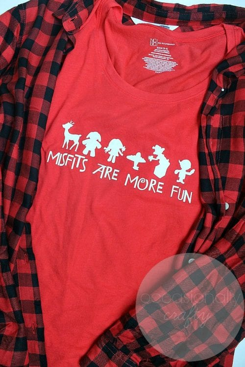 20 Handmade DIY Christmas Shirts for Adults featured by top US craft blog, The Crafty Blog Stalker: Misfits are More Fun