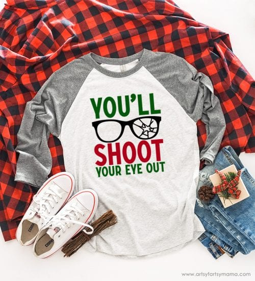20 Handmade DIY Christmas Shirts for Adults featured by top US craft blog, The Crafty Blog Stalker: You'll Shoot you Eye Out