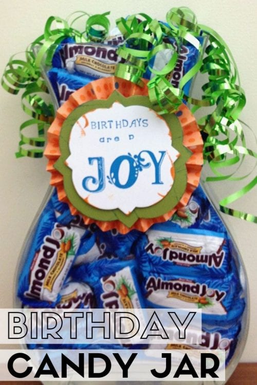 How to Make a Birthday Candy Jar, a tutorial featured by top US craft blog, The Crafty Blog Stalker.