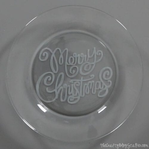 How to Make Glass Etched Christmas Cookie Plates, a tutorial featured by top US craft blog, The Crafty Blog Stalker.