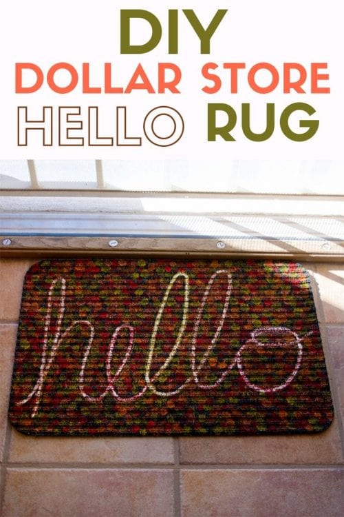 25 Easy Dollar Store Craft Ideas for Adults featured by top US craft blog, The Crafty Blog Stalker: dollar store hello rug