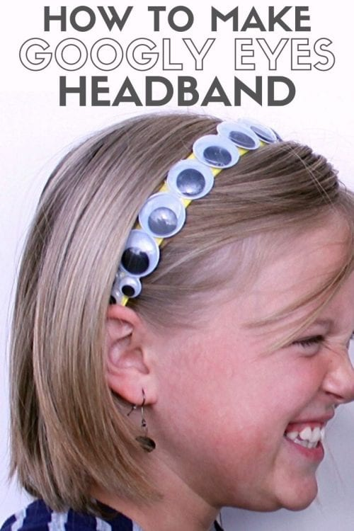 25 Easy Dollar Store Craft Ideas for Adults featured by top US craft blog, The Crafty Blog Stalker: googly eyes headband