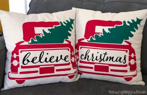 DIY Holiday Throw Pillow tutorial featured by top US craft blog, The Crafty Blog Stalker: holiday throw pillows