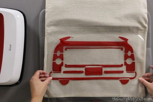 DIY Holiday Throw Pillow tutorial featured by top US craft blog, The Crafty Blog Stalker.r: iron-on vinyl