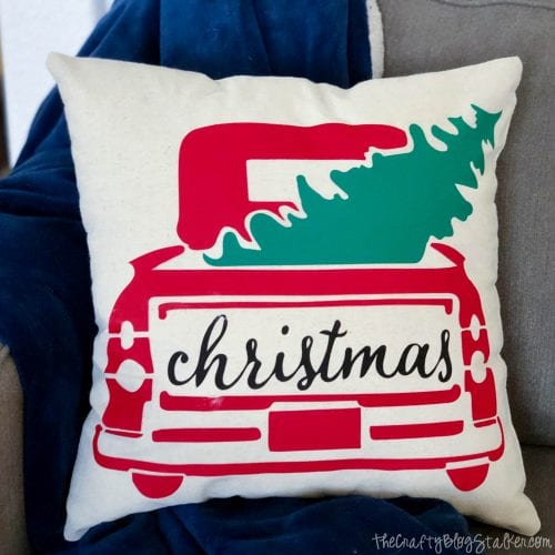 DIY Holiday Throw Pillow tutorial featured by top US craft blog, The Crafty Blog Stalker.: holiday throw pillow