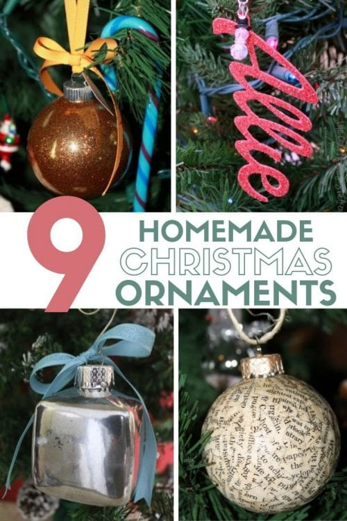 9 Homemade Christmas Ornaments featured by top US craft blog, The Crafty Blog Stalker.