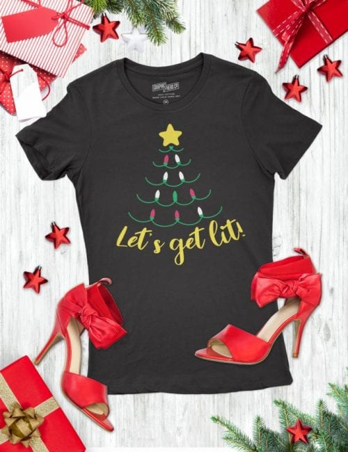 20 Handmade DIY Christmas Shirts for Adults featured by top US craft blog, The Crafty Blog Stalker: Let's get Lit