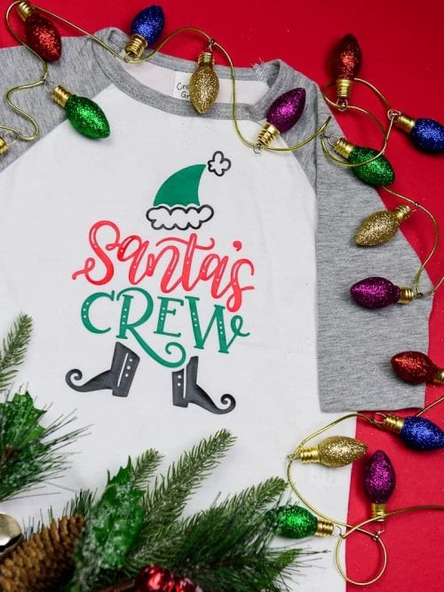 20 Handmade DIY Christmas Shirts for Adults featured by top US craft blog, The Crafty Blog Stalker: Santa's Crew