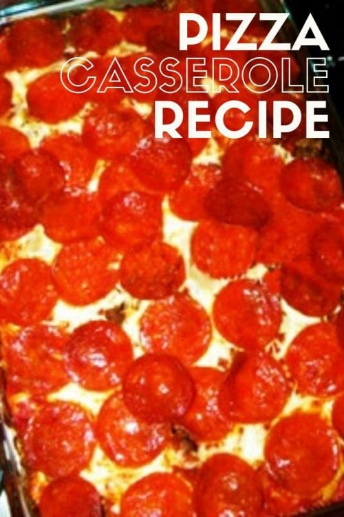 How to Make Pizza Casserole Recipe, a recipe tutorial featured by top US craft blog, The Crafty Blog Stalker.