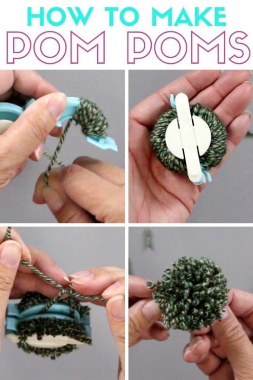 How to Make Pom Poms with the We R Memory Keepers Pom Pom Maker, a tutorial featured by top US craft blog, The Crafty Blog Stalker.