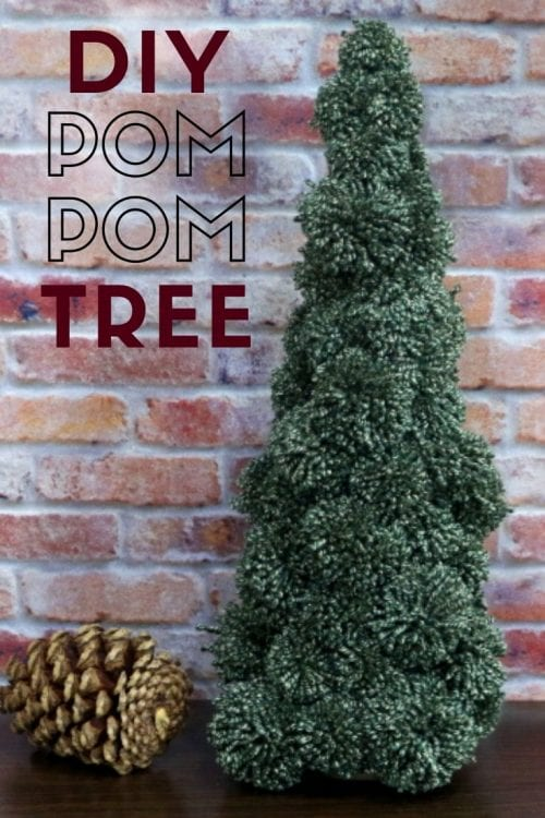 How to Make a Pom Pom Tree for Holiday Decor, a tutorial featured by top US craft blog, The Crafty Blog Stalker.
