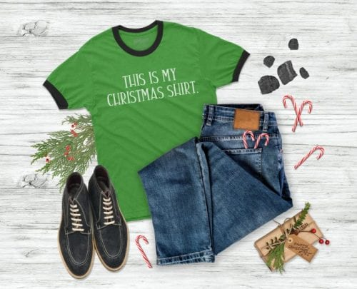 20 Handmade DIY Christmas Shirts for Adults featured by top US craft blog, The Crafty Blog Stalker: Christmas Shirt