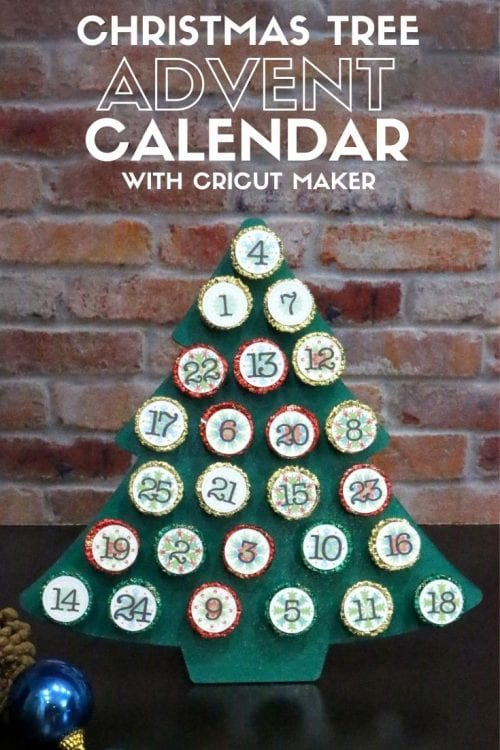 How to Make a Christmas Tree Advent Calendar with Cricut Maker, a tutorial featured by top US craft blog, The Crafty Blog Stalker.